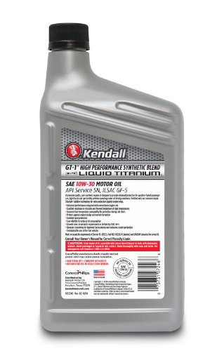 New kendall 1057246 gt 1 high performance synthetic blend for Why use synthetic blend motor oil