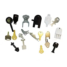 Master Set 19 Of The Most Popular Dispenser Keys - Will Work on 95% of the Paper Towel, C-Fold/Multi-Fold, Roll Towel, Bath Tissue and Soap Dispensers