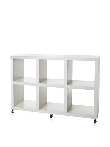 Organize It All Dawn 6-Section Storage Unit, White