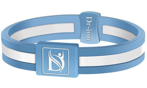 Negative Ion Health Wristband (Light Blue/White)