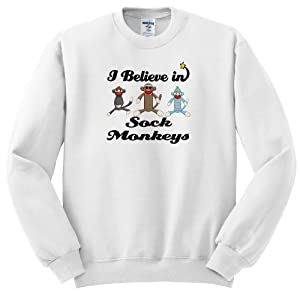 I Believe In Sock Monkeys - Adult SweatShirt Large