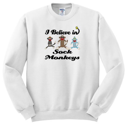 I Believe In Sock Monkeys - Adult SweatShirt Medium