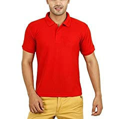 Willmore Men's Cotton Polo (Pack of 2) (SDL975437330 _Red_X-Large)