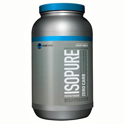 Nature's Best Perfect Zero Carb Isopure, Creamy Vanilla, 3 Lb Bottle