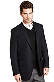 Collezione Luxury Pure Wool 2 Button Blazer