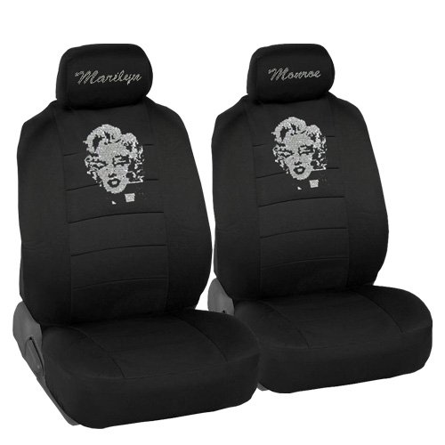 Marilyn monroe rhinestone car suv truck low back seat covers and 4 pcs