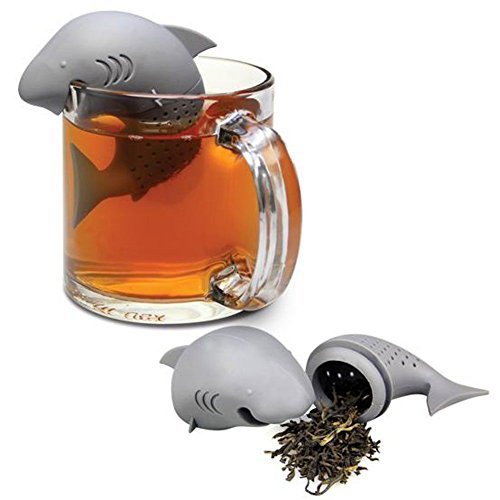 1 X HeroNeo® Cute Silicone Shark Infuser Loose Tea Leaf Strainer Herbal Spice Filter Diffuser