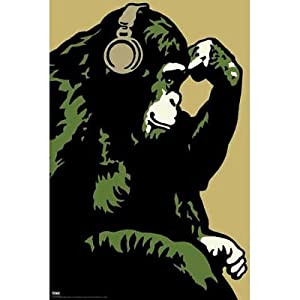 Steez (Monkey Thinker) Art Poster Print