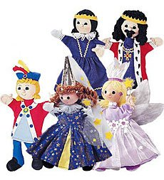 Set of 5 Costumed Puppets plus Doorway Theater Special - Children's Easter Gift from Hearth Song