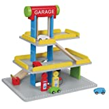 LELIN WOODEN WOOD CHILDRENS KIDS MULTI STOREY PARKING CAR PARK GARAGE PLAYSET