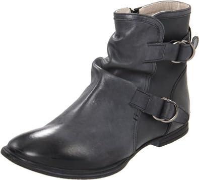 (疯抢)海淘暇步士Hush Puppies Women's Epistle Boot真皮减震裘皮过踝靴黑$62.98