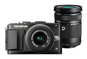 Olympus PEN E-PL5 DZK Appareil Photo Numérique Compact 16.1 Mpix Noir + objectifs 14-42mm II R & 40-150mm R