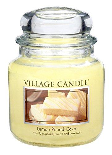 Village Candle Bougie parfumée au gâteau au citron 14 x 10 cm 899g Jusqu'à 105 heures de combustion