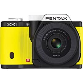 Pentax K-01 Digital Camera With 40mm Lens (Yellow)