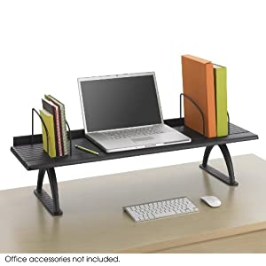 "Amazon Safco Products 3603BL Wood Desk Riser 42""W"