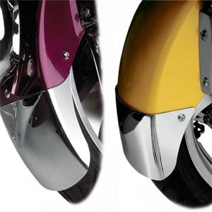 Show Chrome Front Fender Externsions for 1800 Gold Wing - Tapered/Chrome