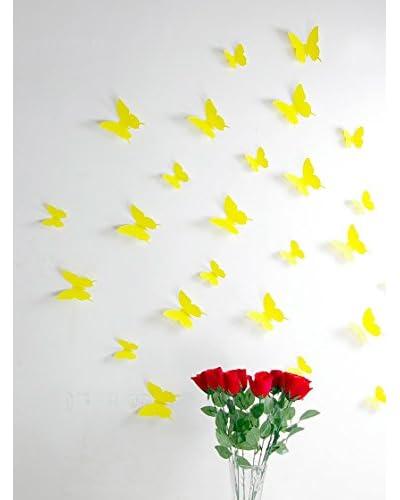 Ambiance Live Paquete De 12 Vinilos Adhesivos Mariposas 3D