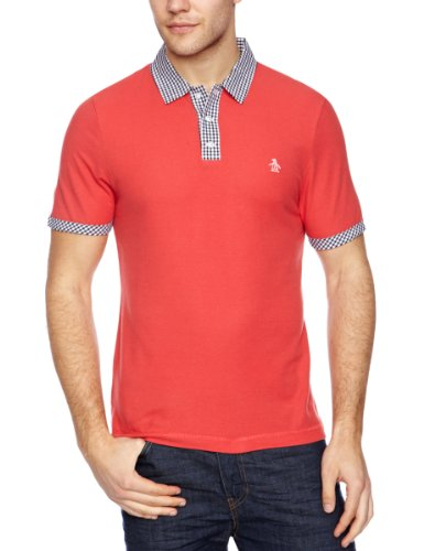 Original Penguin Shortsleeve With Gingham Polo Shirt Men's T-Shirt Chrysanthemum X-Large