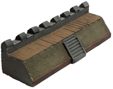 Terrain: 15mm Ancient - Roman Mile Wall w/Stairs