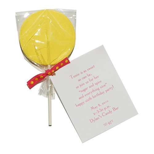 Yellow Lollipop Die-Cut Card, Pack Of 10 front-536257