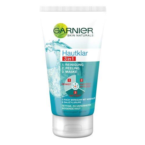 Garnier Hautklar 3in1 Reinigung + Peeling + Maske, 150 ml