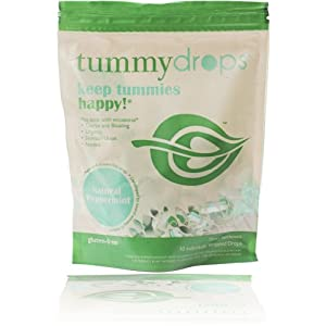 Tummydrops peppermint (bag of 30 individually wrapped drops)