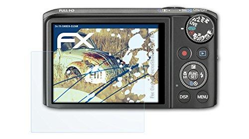 3 x atFoliX Panzerfolie Canon PowerShot SX260 HS Folie - FX-Shock-Clear ultraklar und stoßabsorbierend