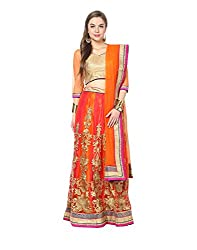 Yepme Jacinta Lehenga Choli Set - Orange -- YPMLEHG0078_Free Size