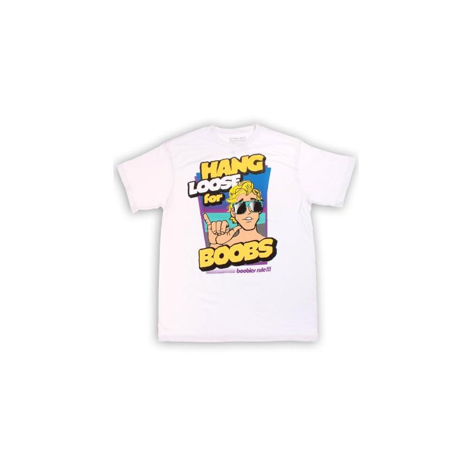 Boobies Rule Hang Loose Mens Cotton Tee Shirt Clothing
