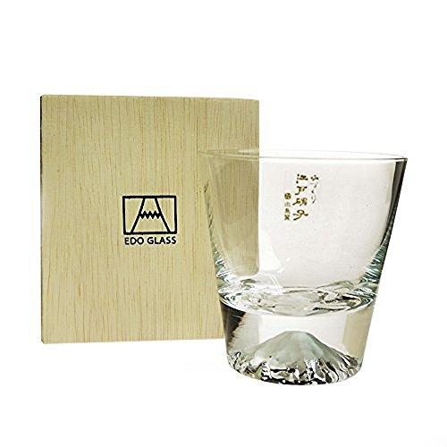 富士山ロックグラス 木箱入り  Mt.Fuji Rock Glass w/ wood box