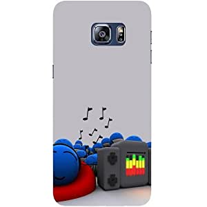 Casotec Music Sound Design Hard Back Case Cover for Samsung Galaxy S6 edge Plus