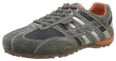 Geox U SNAKE ART.M U1107M02214C1300, Herren Sneaker, Grau (DK GREY/OFF WHITE C1300), EU 41