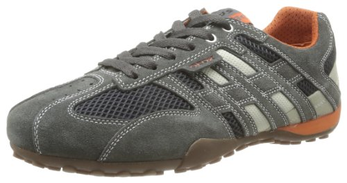 Geox Men's U Snake Art.M Dark Grey/Off White Fashion Trainer U1107M2214C1300 6.5 UK, 40 EU