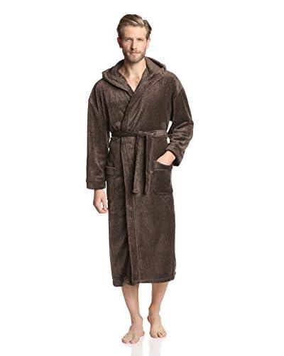 Majestic Men's Plush Fleece Hooded Robe