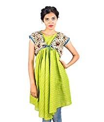 HastaVarna Designer Handloom Tops With Kalamkari Shrug