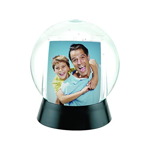 Photo Snow Globe with Black Base (Snowglobe Photo Insert compare prices)