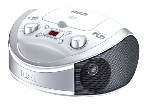 Rca RCD331WH Portable CD Player with AM/FM Radio, White