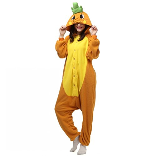 [Foresightrade Adults and Children Animal Cosplay Costume Pajamas Onesies Sleepwear L] (Tigger Carrot Costume)
