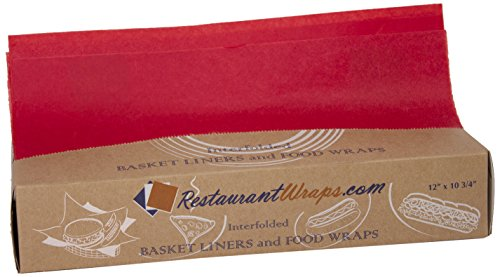 "Seaman Paper Company Mdx1210M18Chr Interfolded Waxed Tissue, 12"" X 10.75"", Cherry (6 Packs Of 500 Sheets) front-610493"