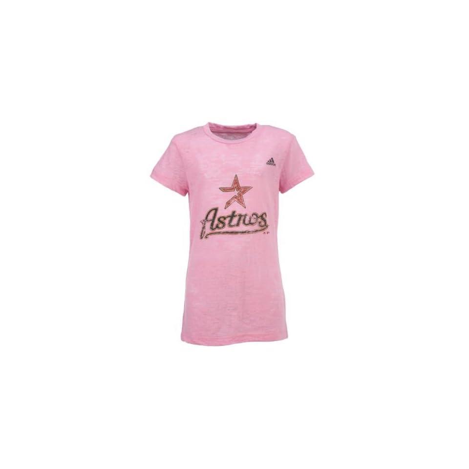 detailed look 06b73 52e3b Academy adidas Girls Houston Astros Longer Length Burn Out T ...