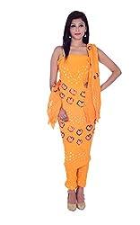 Apratim Women's Cotton Unstitched Dress Material (Yellow)