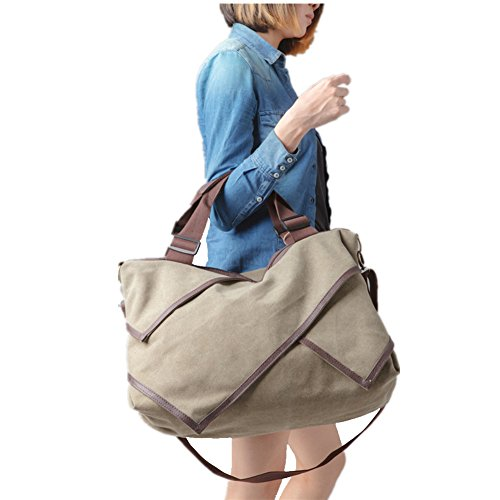 MOLLYGAN Women's Leisure Canvas Shopping Hobo Bag Totes Shoulder Bag