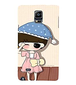 EPICCASE Sleepy little girl Mobile Back Case Cover For Samsung Galaxy Note 4 (Designer Case)