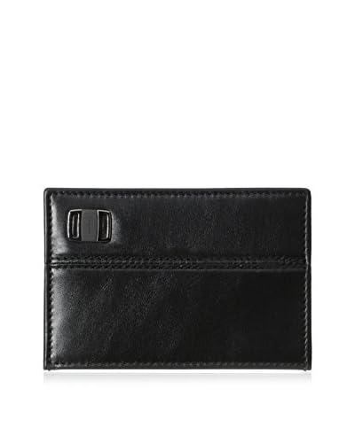 Salvatore Ferragamo Men's Pierce Card Holder, Nero