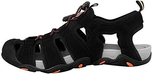 4F uomo Outdoor sandali scarpe sportive scarpe da trekking escursionismo sandali Sport sandali escursioni Sport SAM004SS16, nero