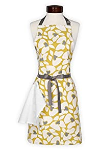 Lynne's Whim Charlotte Vintage Floral Made in USA Apron (Gold)