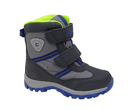 KilltecBjarki Jr - Stivali corti da neve e stivaletti Unisex - Bambini , grigio (Grau (mittelgrau/ Lime/ Royal)), 28