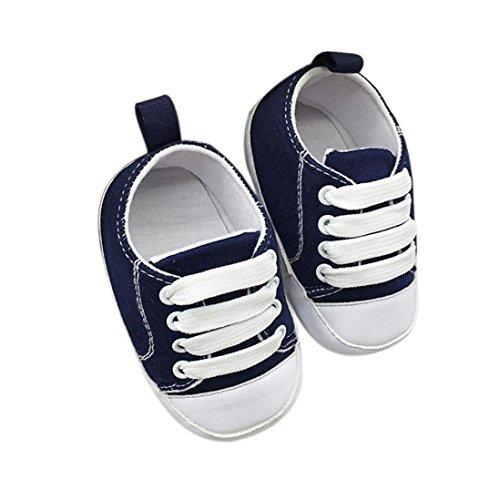 Chaussures de bébé,Fulltime® Chaussures bébé Toddler Anti-Slip Chaussures à semelle souple en toile