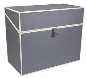 bo te fichier a4 classement personnel gris anthracite bo tes de rangement qualit. Black Bedroom Furniture Sets. Home Design Ideas