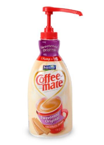 Coffee-mate Coffee Creamer, Sweetened Original Pump Bottle, 1.5L (Pack of 2)